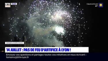 14-Juillet: pas de feu d'artifice à Lyon