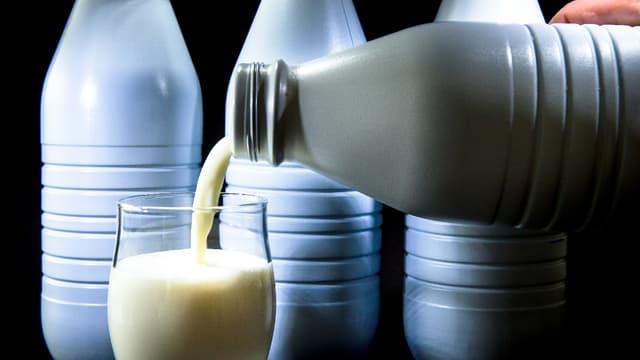 """Les bouteilles de lait opaques, moins facilement recyclables seront désormais frappées d'un """"malus"""". (image d'illustration)"""