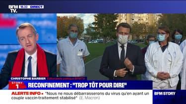 Story 5 : Ce qu'il faut retenir de la prise de parole d'Emmanuel Macron à l'hôpital de Pontoise - 23/10