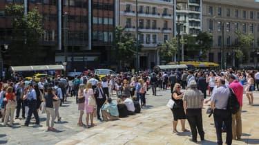 Athènes pendant le premier séisme du 19 juillet dernier (Photo d'illustration)