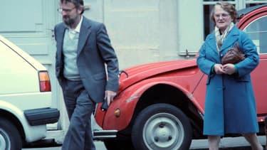 Monique et Albert Villemin, les grands-parents du petit Grégory, le 10 mai 1988 à Dijon.