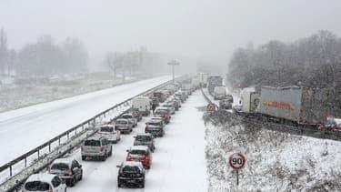 La N118 est particulièrement problématique en cas de neige.