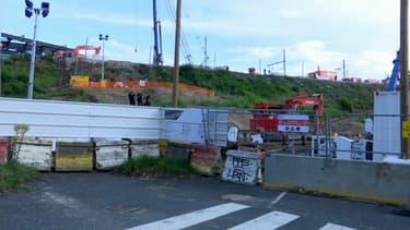 Le chantier à Massy.