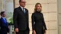 Richard Ferrand et Sandrine Doucen, sa compagne.