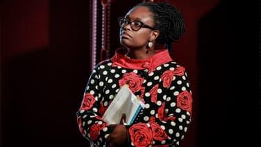 Sibeth Ndiaye lors d'une conférence de presse à Paris, le 10 juin 2020