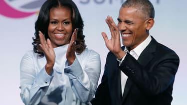 Michelle et Barack Obama le 31 octobre 2017 à Chicago