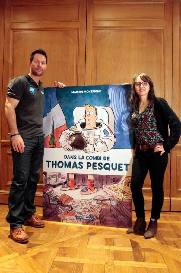 Thomas Pesquet et Marion Montaigne