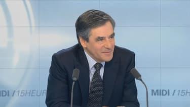 François Fillon sur le plateau de BFMTV.