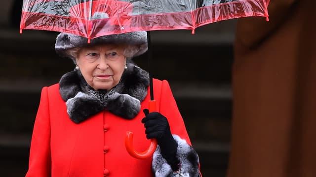 La reine Elizabeth II, le 25 décembre 2015.
