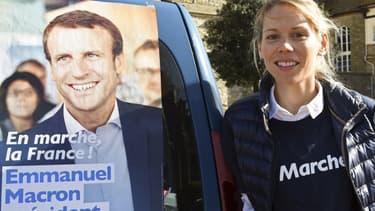 Tiphaine Auzière, lors de la campagne d'Emmanuel Macron