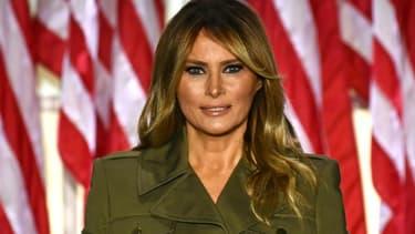 Le Première dame des Etats-Unis Melania Trump s'exprime depuis les jardins de la Maison Blanche le 25 août 2020 dans le cadre de la convention républicaine