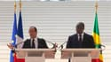 Dakar, 12 octobre 2012: François Hollande en conférence de presse avec son homologue sénégalais, le président Macky Sall
