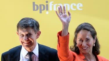 Jean-Pierre Jouyet, le président de la BPI, en compagnie de Ségolène Royal, sa vice-présidente.