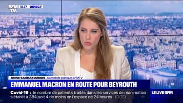 Emmanuel Macron en route pour Beyrouth - 06/08