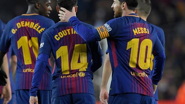 Dembélé, Coutinho et Messi