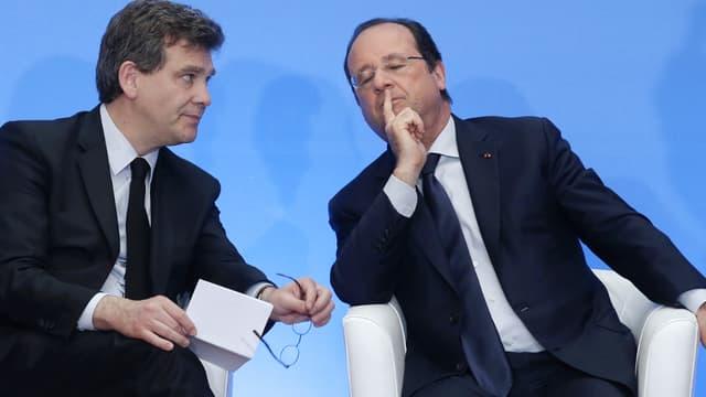 François Hollande et Arnaud Montebourg début mai à l'Elysée