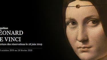 L'exposition Léonard de Vinci.
