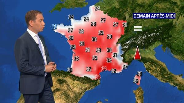Les températures pour ce samedi 12 juin 2021