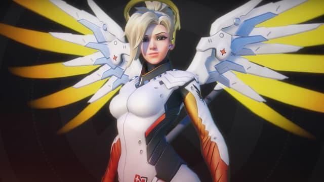 Le personnage Mercy, du jeu Overwatch