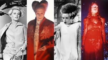 Les Oiseaux, Dracula, La fiancée de Frankenstein, Carrie au bal du diable