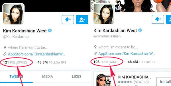 Le compte Twitter de Kim Kardashian