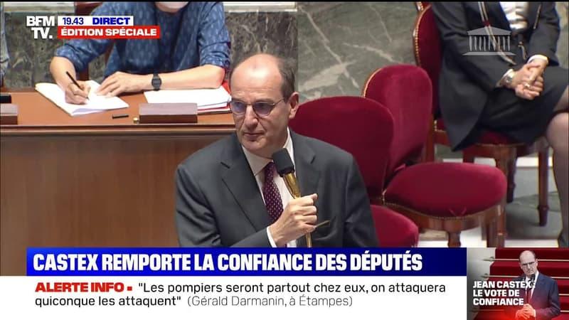 """""""Maintenant, au travail"""": Jean Castex remporte la confiance des députés"""