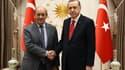 Jean-Yves Le Drian et Recep Tayyip Erdogan en septembre 2017, à Ankara.