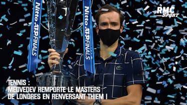 Tennis : Medvedev remporte le Masters de Londres en renversant Thiem !