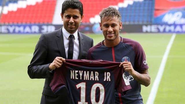Neymar à son arrivée au PSG