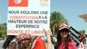 Le 9 août à Tunis, les femmes manifestaient déjà leur mécontentement face à cette proposition de constitution