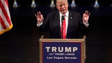Donald Trump lors d'un meeting à Las Vegas, le 18 juin 2016.