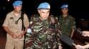 Le colonel marocain Ahmed Himmiche (au centre), qui dirige l'équipe des premiers observateurs de l'Onu en Syrie, mardi à Damas au retour d'un déplacement à Deraa, dans le sud du pays. Les préparatifs de ces six observateurs chargés de veiller au respect d