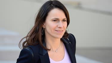 Aurélie Filippetti le 12 mars 2014 à la sortie de l'Elysée.