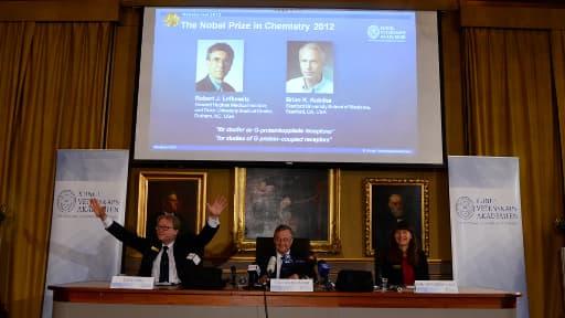 Le prix Nobel de Chimie 2012 décerné à Robert Lefkowitz et Brian Kobilka