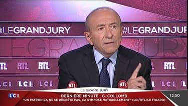 Gérard Collomb, à l'émission le Grand Jury, le 30 octobre 2016.