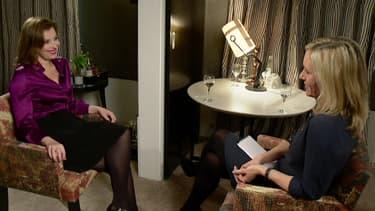 """Valérie Trierweiler le 23 novembre dans l'émission anglaise """"The Andrew Marr Show"""", à Londres"""