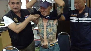 Image du yakuza arrêté par la police thaïlandaise, le 10 janvier 2018.