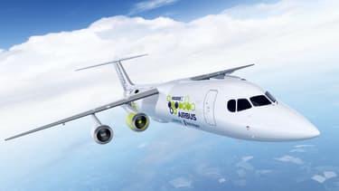 Airbus mènera une campagne d'essais au sol sur un avion BAe 146, dont l'un des quatre réacteurs aura été remplacé par un moteur électrique.