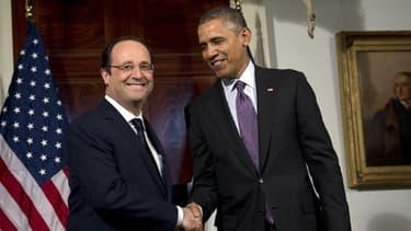 Le président de la République est en visite d'Etat à Washington.