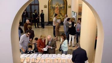 Un bureau de vote, le 24 mai 2015 à Madrid