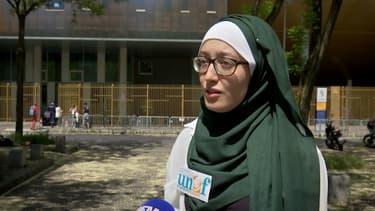 La présidente de l'Unef à l'université Paris IV Maryam Pougetoux, cible de commentaires haineux sur les réseaux sociaux.