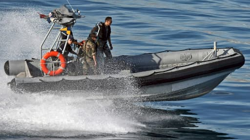 L'agence Frontex en opération au larges des côtes françaises, le 23 octobre 2009.