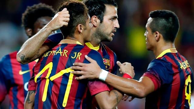 Neymar et Cesc Fabregas