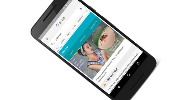 La campagne multilingue de Zika, mise en place sur le moteur de recherche Google