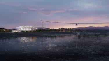 Long de 973 mètres, le futur téléphérique enjambera le fleuve Amour, en permettant de rejoindre l'autre rive du fleuve Amour en moins de 7 minutes.