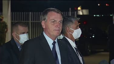 Jair Bolsonaro non masqué lors d'un déplacement