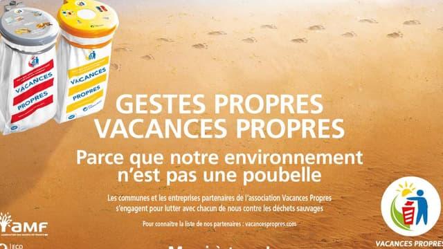 Vacances Propres lance sa 44ème campagne cet été : plus de 2,5 millions de sacs à rayures seront distribués