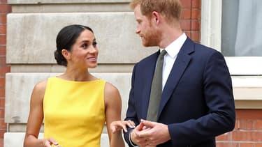 Meghan et Harry à Londres, le 5 juillet 2018