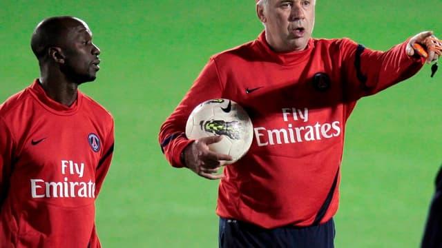 Carlo Ancelotti et Claude Makelele