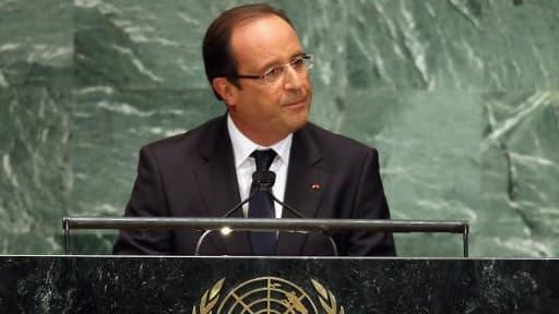François Hollande à la tribune de l'ONU